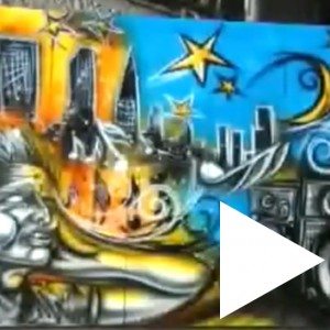 Graffiti mural for Rotana Tv / CITY